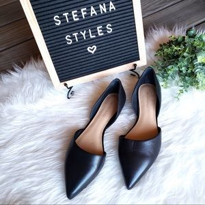 NEW Saks Fifth Avenue Black Pointed Toe Flats